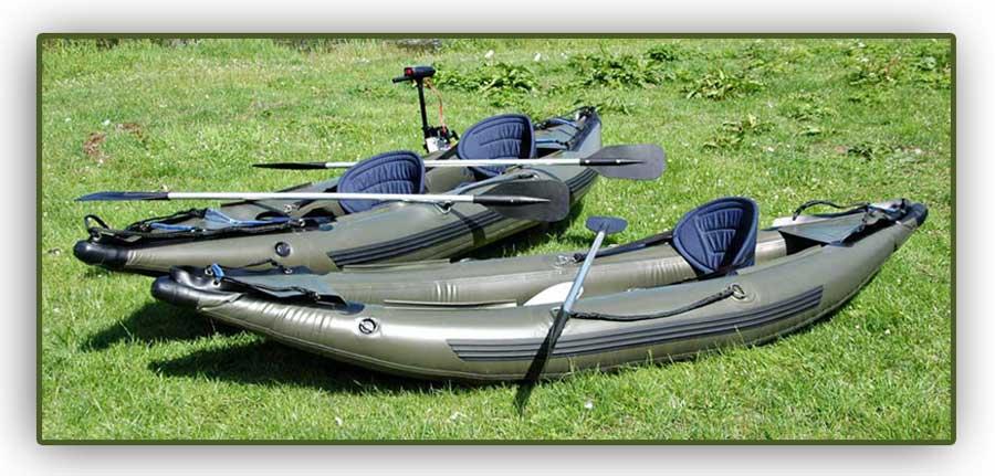 Inflatable 2 man fishing kayak canoe outboard motor ebay for 2 man fishing kayak